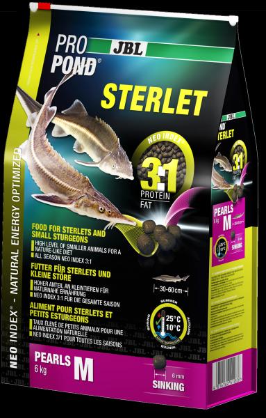 JBL ProPond Sterlet L - Основной корм в форме тонущих гранул для осетровых рыб большого размера 6,0 кг (12 л), фото 1