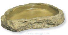 Кормушка-камень пластиковая Feeding Dishes большая