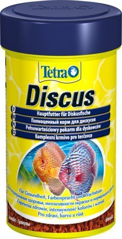 TetraDiskus Staple Food основной корм для дискусов в гранулах 100 мл