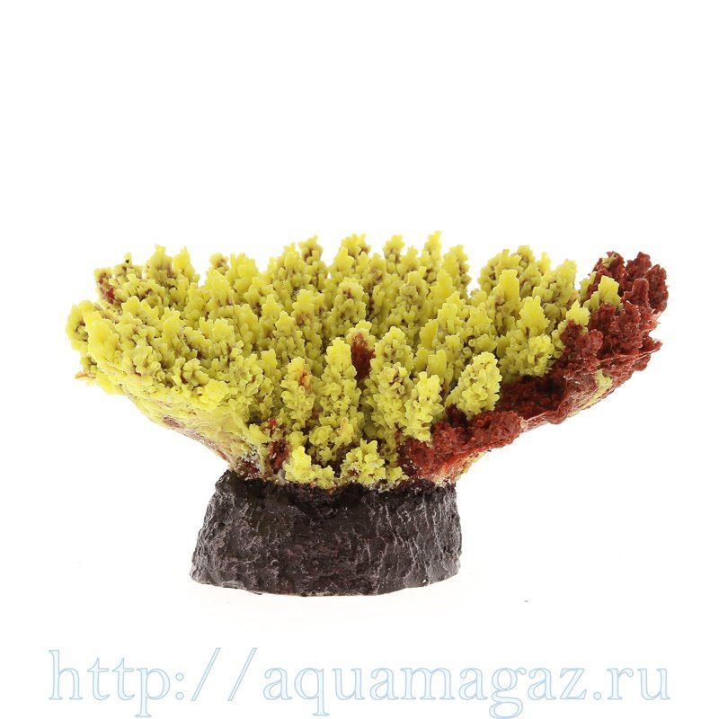 Коралл пластиковый желтый 21х18х8,5см