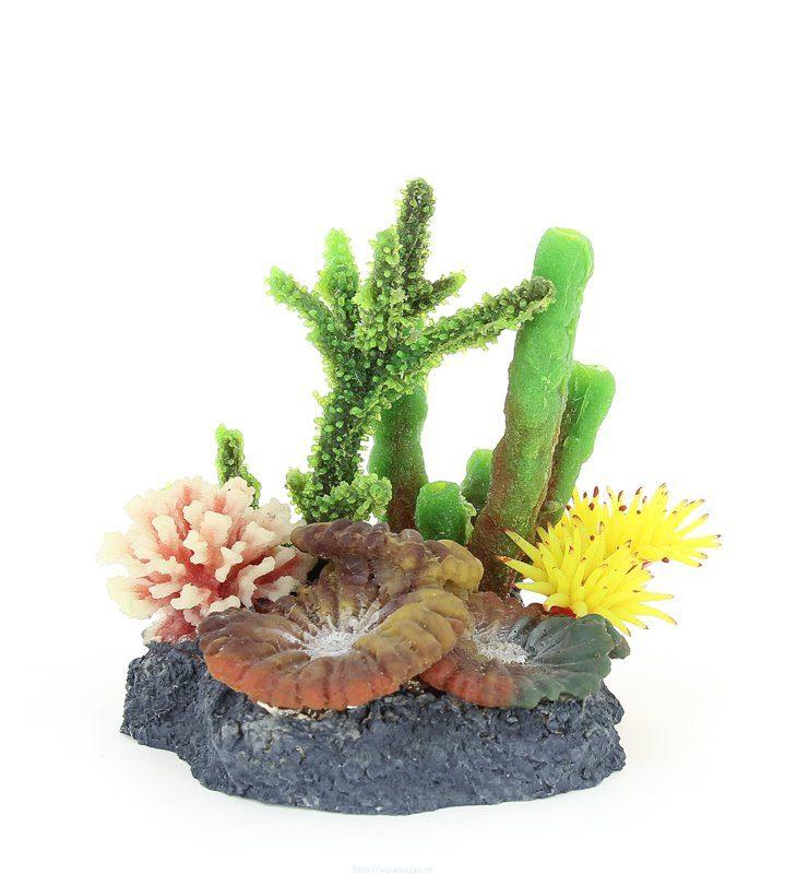 Композиция из кораллов пластик+силикон 27х10х17см