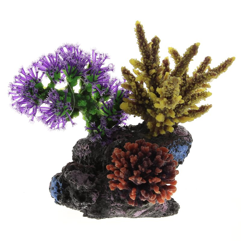 Композиция из кораллов пластик+силикон 20х13х15.5см