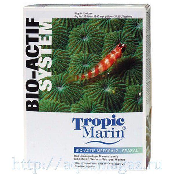 Соль Tropic Marin Bio-Actif 4кг на 120л (коробка)