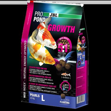 JBL ProPond Growth L - Корм в форме плавающих гранул для активного роста карпов кои большого размера 2,5 кг (6 л), фото 1