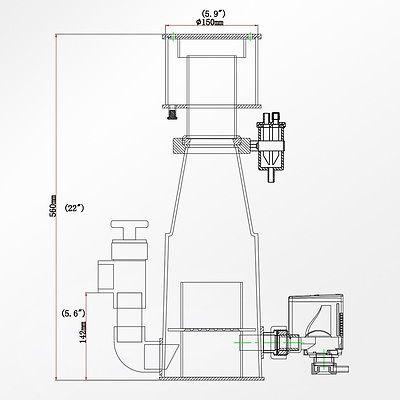 D150315x220x560, 800-1000л, помпа AQ-2000S, 18Вт, возд. 720лч, D слива 40мм Classic-150INT