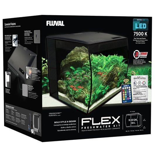 Аквариум Fluval Flex34л с изогнутым стеклом 330х330х350мм, фото 2