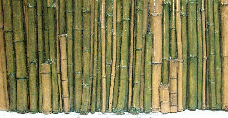 Фон рельефный Бамбук 98х58см зеленый