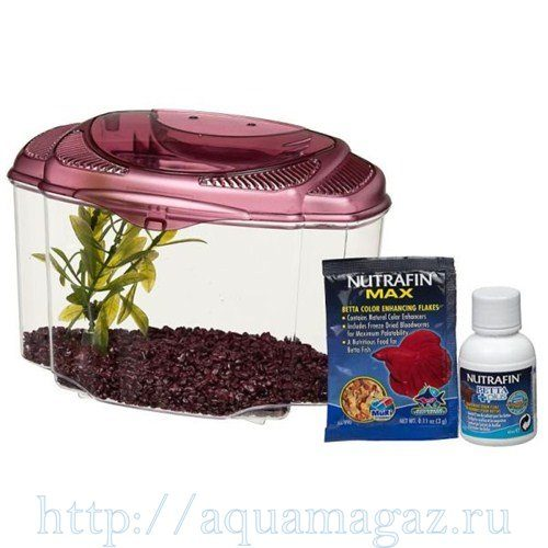 Аквариум Marina Betta Kit Burgundy, 1,8л