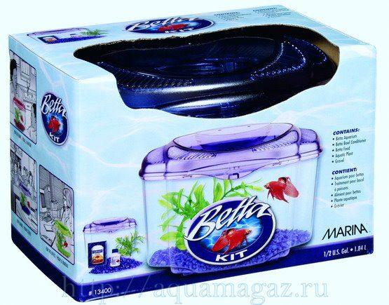 Аквариум Marina Betta Kit Purple, 1,8л