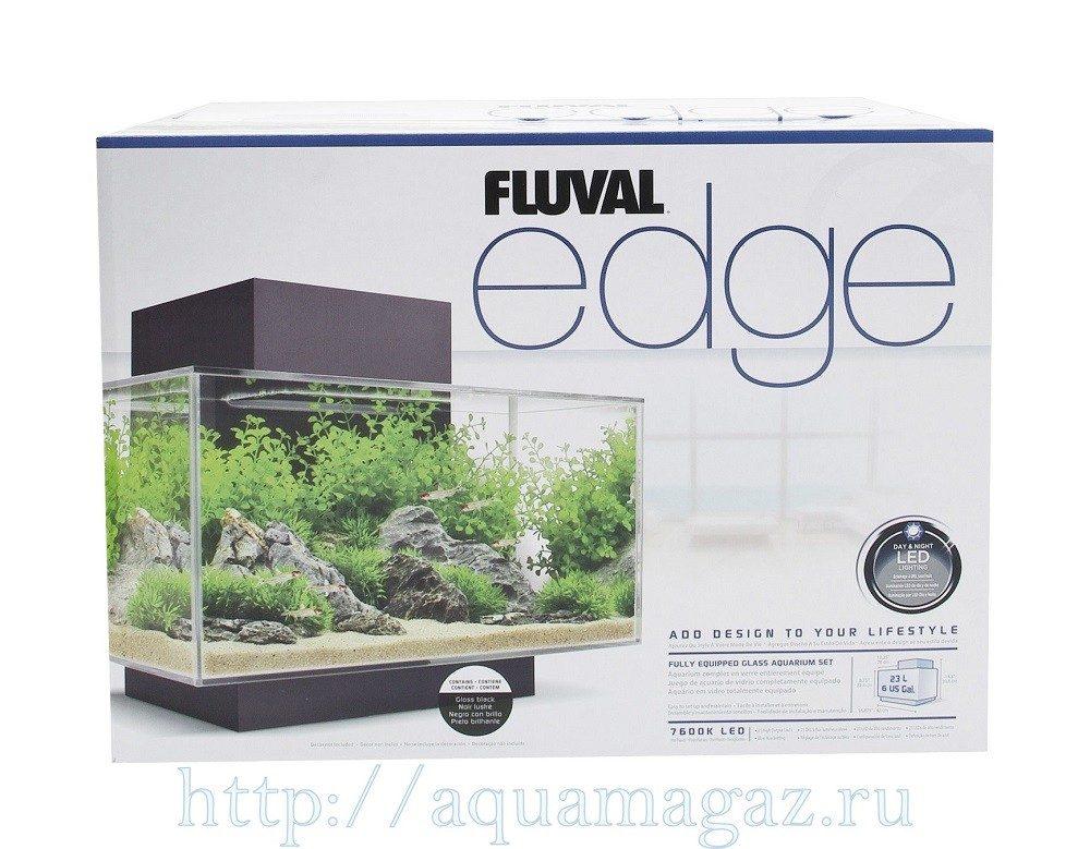 Аквариум  Fluval  Edge LED 23л  43х22.4х26см чёрный
