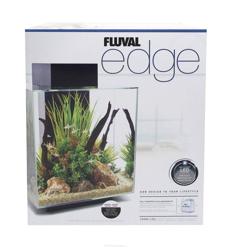Аквариум Fluval Edge 46л LED чёрный