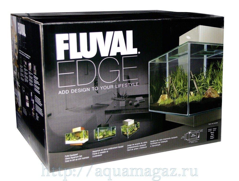 Аквариум Fluval Edge черный 46л LED