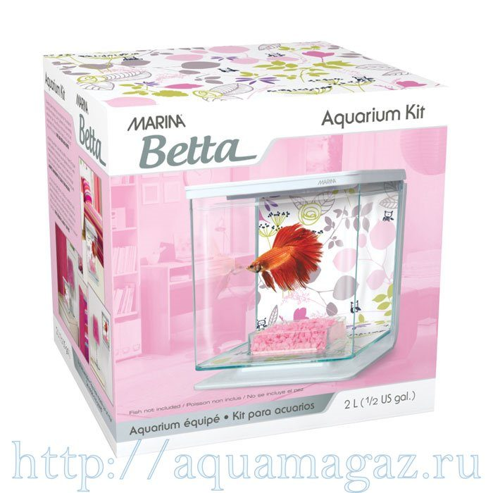 Аквариум Marina Betta Kit Floral