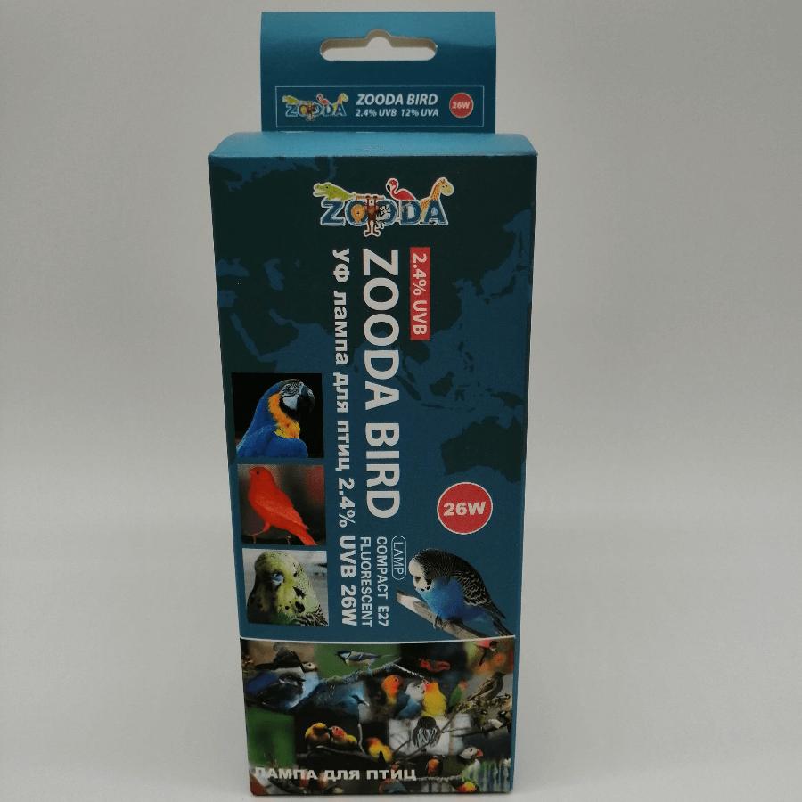 Лампа для птиц ZooDA BIRD LAMP Е27 2.4% UVB 12% UVA, фото 2