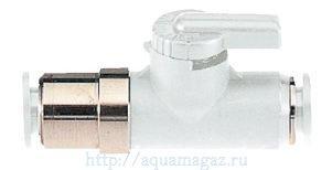 Шаровый кран маленького размера для лёгкого открытия/закрытия потока СО2 белого цвета ADA SF-V Std. Ball Valve White