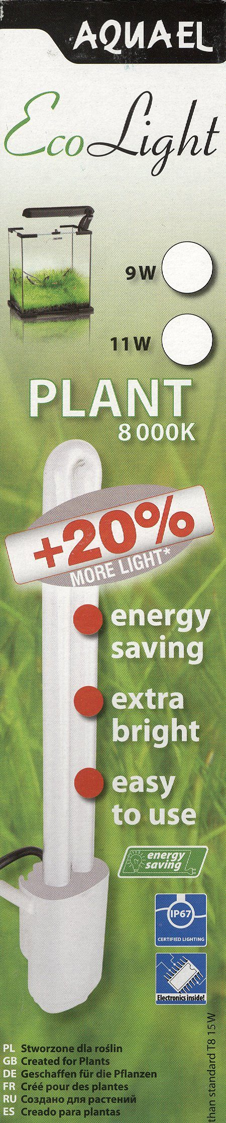 Модуль освещения EСОLIGHT Plant 9 W (д/растений, 8 000 К)