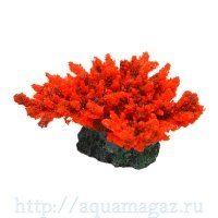 Коралл пластиковый красный 14х11х9см