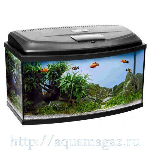Аква-комплект РАО50 CLASSIC 40л фигурный (РАО50 CLASSIC 50х30х30см) (аквариум+крышка-светильник14Вт+рамка) Aquael
