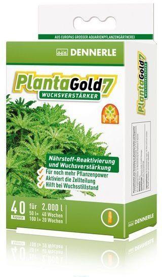 Dennerle Planta Gold 7 - Стимулятор роста для всех аквариумных растений в капсулах, 20 шт. на 1000 л