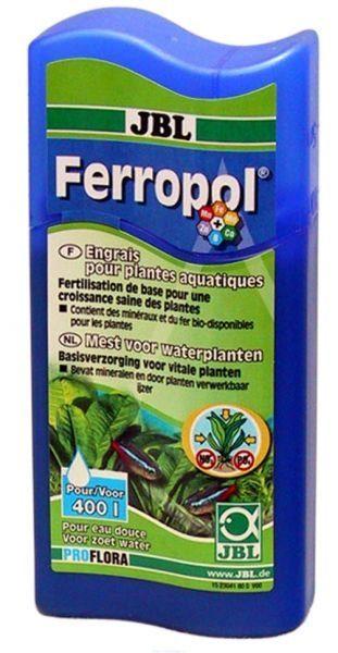 Жидкое комплексное удобрение с микроэлементами в экономичной упаковке JBL Ferropol, 625 мл