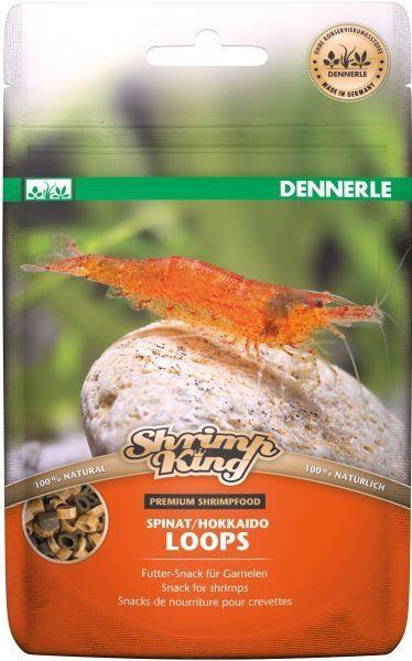 Дополнительный корм премиум класса для креветок Dennerle Shrimp King Spinat/Hokkaido Loops, 30 г