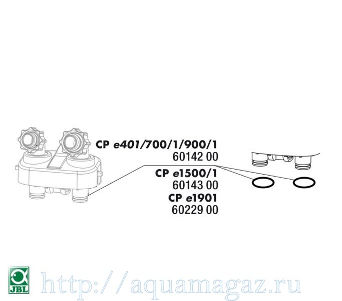 Прокладка блока кранов для фильтров CristalProfi е JBL CP e terminal block washer CPe1500/1