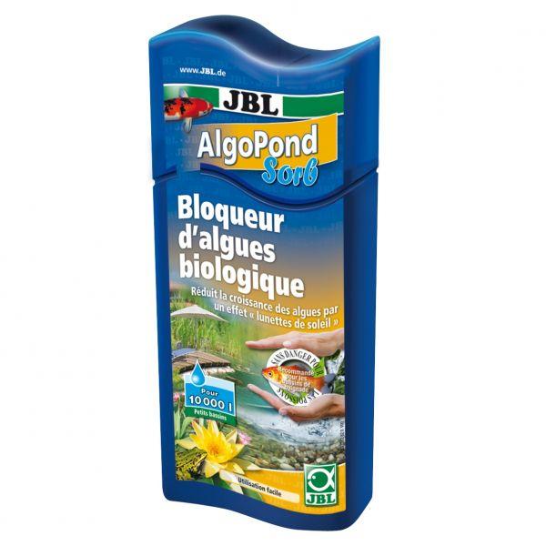 Препарат для блокирования роста водорослей в садовом пруду, использующий эффект солнцезащитных очков JBL AlgoPond Sorb, 500 мл