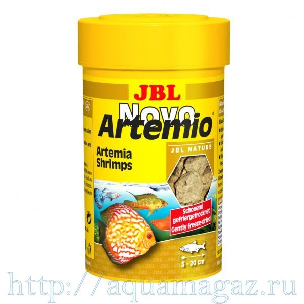 Рачки артемии, высушенные по технологии вакуумной заморозки, 100 мл JBL NovoArtemio 100 мл