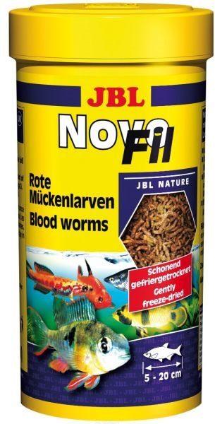 Личинки красного комара, высушенные по технологии вакуумной заморозки JBL NovoFil, 250 мл 20 г