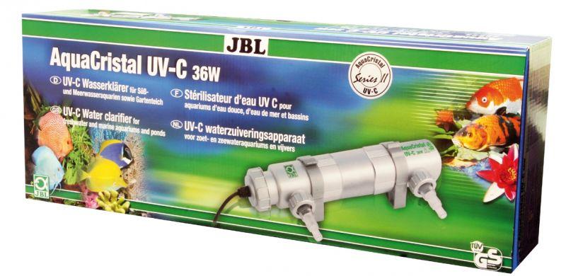 Ультрафиолетовый стерилизатор воды для аквариумов с пресной и морской водой и прудов JBL  JBL AquaCristal UV-C SERIES II 36 Вт