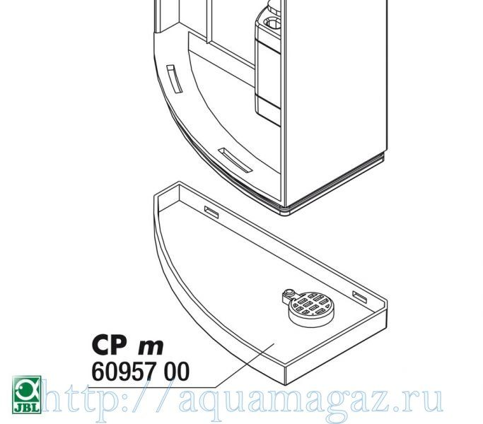 Нижняя крышка для фильтра JBL CristalProfi m greenline JBL CristalProfi m greenline Base plate