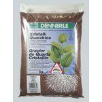Гравий 1-2 мм, цветной Dennerle Kristall-Quarz 10 кг, цвет темно-коричневый
