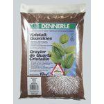 Гравий 1-2 мм, цветной Dennerle Kristall-Quarz 5 кг, цвет темно-коричневый