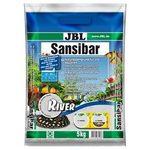 Грунт мелкий, светлый мелкий с черными камушками, 10 кг JBL Sansibar River