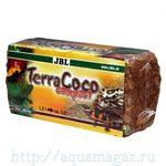 Натуральная кокосовая стружка, спрессованная в брикет JBL TerraCoco Compact, 500 г
