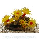 Коралл силиконовый желтый 14х11х9см