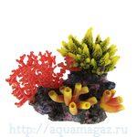 Композиция из кораллов пластик+силикон 23х12х22.5см