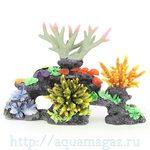 Композиция из кораллов пластик+силикон 40х20х20см