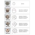 Наполнитель для фильтров керамический высокопористый 3DM NUGGETS (M) ? 18-20ммx15-17мм, фото 1