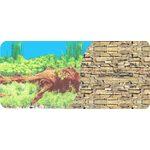 Фон двухсторонний 60см. Растительный с корягой (синий) / Каменная стена из сланца