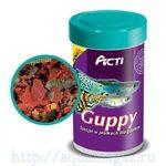 Acti Guppy 100мл/17 г корм для гуппи хлопья 1/16 Акваэль