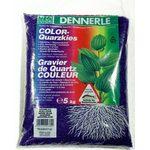 Цветной Гравий 1-2 мм Dennerle Color-Quarz 5 кг, лазурно-синий