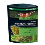 Корм из 100% натуральных водорослей в виде  листков  в качестве добавки к корму для креветок Dennerle Nano Algenfutterblatter, 4