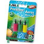 Комплект их трех разноцветных распылителей цилиндрической формы 15х26 мм для получения особо мелких пузырьков JBL ProSilent Aera