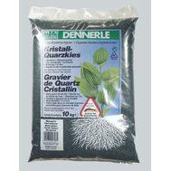Гравий 1-2 мм, цветной Dennerle Kristall-Quarz 10 кг, темно-зеленый (цвет мха)