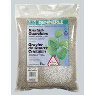 Гравий 1-2 мм, цветной Dennerle Kristall-Quarz 10 кг, цвет природный белый