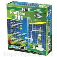 JBL ProFlora u201 - Система СО2 для аквариумов от 10 до 200 литров со сменным баллоном 95 г, редуктором, мини-реактором, счетчик