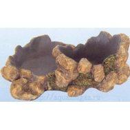 Камень-поилка-кормушка для рептилий  L210 x W165 x H80мм