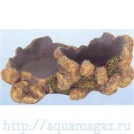 Камень-поилка-кормушка для рептилий  L205 x W125 x H75мм