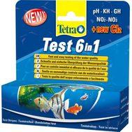 TetraТест 6 в 1 GH kH NO2 NO3 pH Cl полоски для пресной воды 25шт